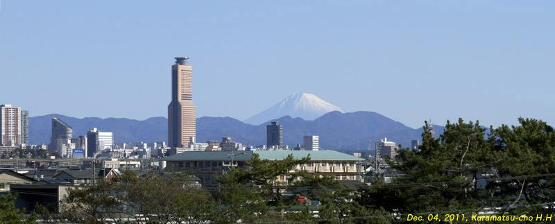 静岡県西部から見る富士:2011年...